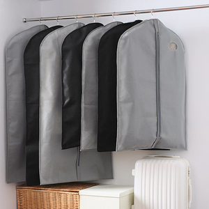 Image 2 - Breathable Non Woven Garment Clothes Cover Dress Suit Coat Protector Travel Dustproof Bag Protective Cover Organizer Storage Bag