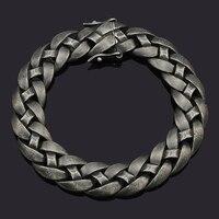 Dolaime Vintage Männer Edelstahl Hiphop Rock Schmuck Punk Magnet Doppelte Sicherheit schnallen Armband, Top Verkauf GB678