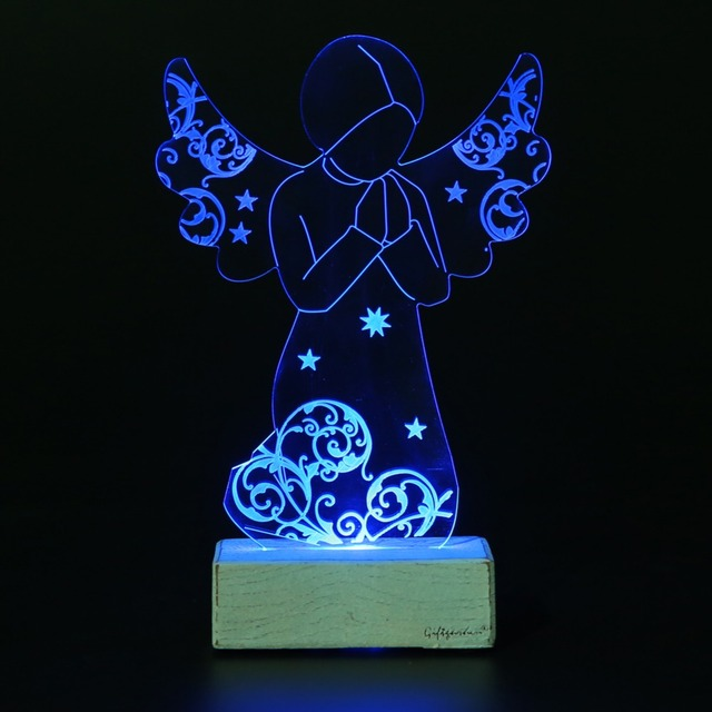 Giftgarden Christmas Ornaments Praying Angel Led Light Decoration Home Decor Of Prayer Decorations For