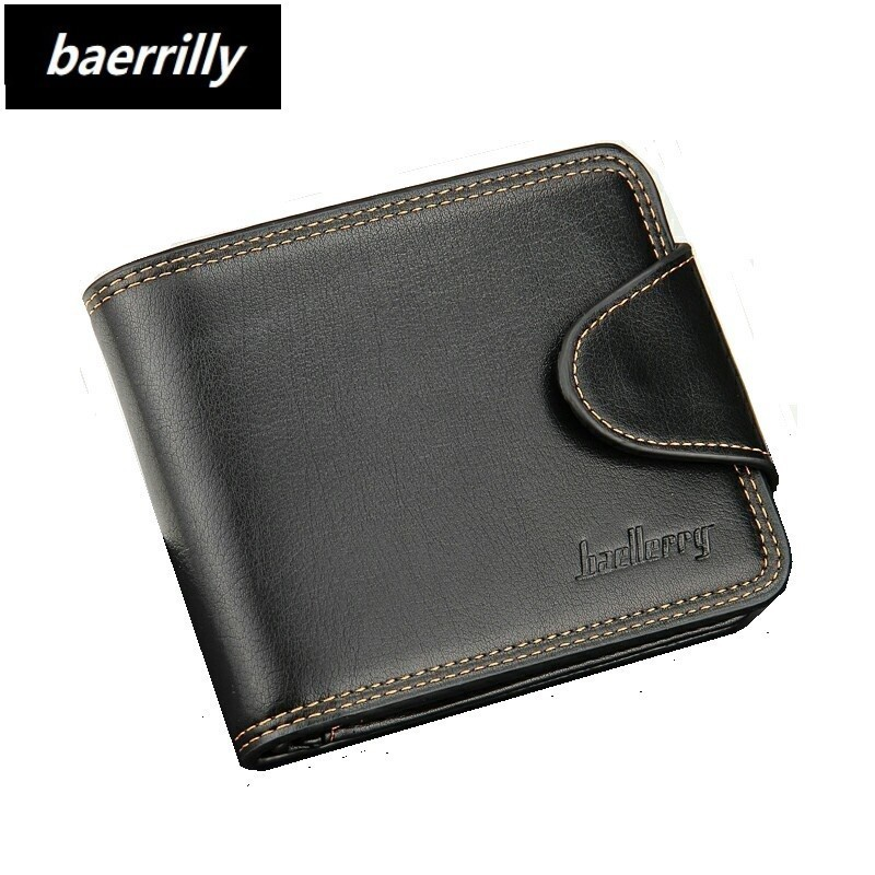 HOT Fashion Brand Wallet Men PU Leather Mens Wallet Male Purse Short Card Holder Designer Wallet Black Vallet for Men new fashion men wallet pu leather purse handbags for male luxury brand black no zipper men clutches free shipping card holder