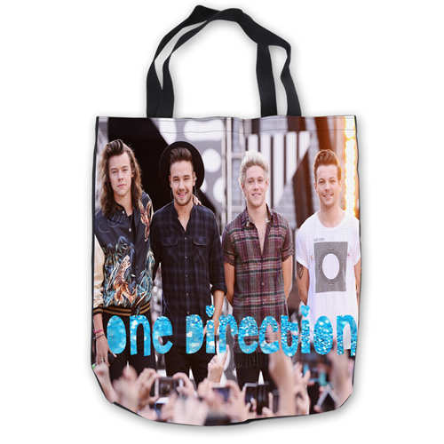Custom Canvas One Direction Tote Hand Bags Ping Bag Casual Beach Handbags Foldable 180911 01 25 In Top Handle From Luggage On Aliexpress