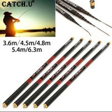 3.6m 4.5m 4.8M 5.4m 6.3m Ultra Light High-carbon Hard Stream Telescopic Power Hand Fishing Rod
