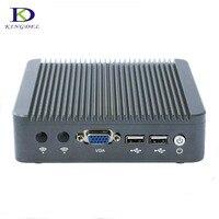 Матовый Алюминий случай сплава J1800 последним безвентиляторный Мини ПК Нулевой Уровень шума с Двухъядерный Intel NIC Dual LAN безвентиляторный Мини