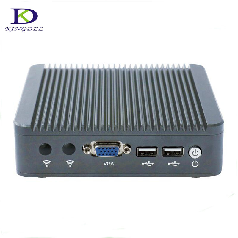 Brushed Aluminum Alloy Case J1800 Newest Fanless Mini PC Zero Noise With Dual Core Intel Nic Dual Lan Fanless Mini Pc