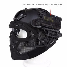 Airsoft Tactical Helmet With Full Face Mask And Goggles