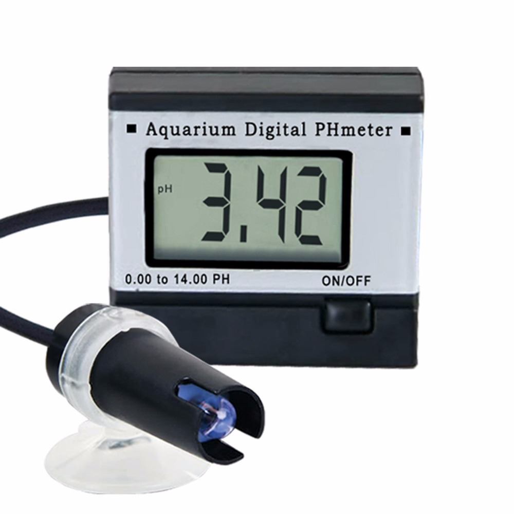 Digital pH Meter Tester Monitor Hydroponics Aquarium with 1M 1Meter Cable + Adaptor + FREE 2 Buffer Solutions ph tester accept sample order