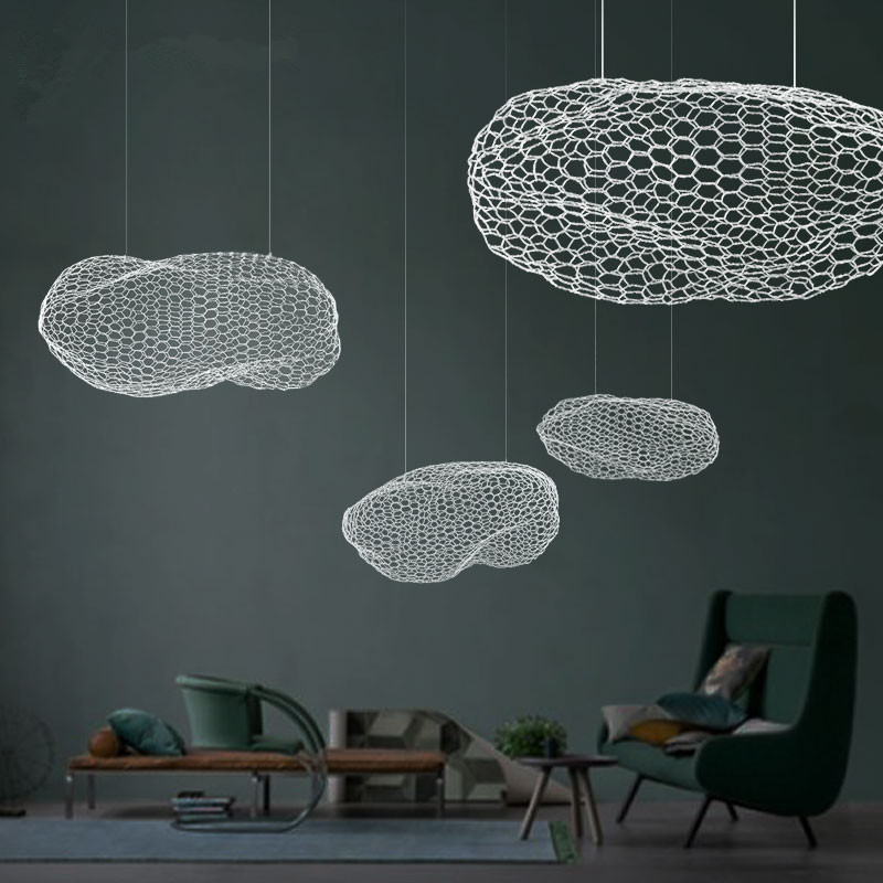 цена Nordic Spotlight LED Children Room Cloud Pendant Lights Cloud Living Room Bedroom Bar Cafe Iron Hanging Decor Lamps Fixtures онлайн в 2017 году