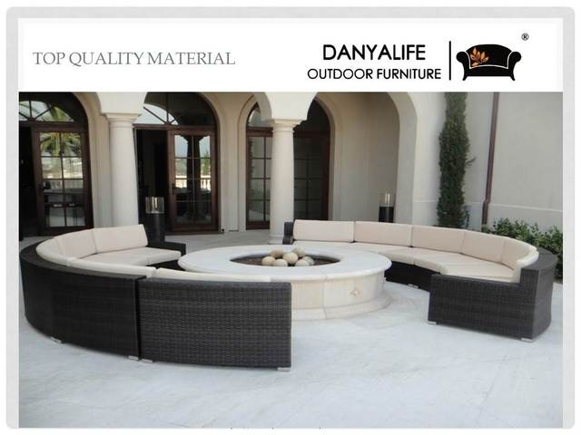 Dysf Dbc01 Danyalife Rattan Outdoor Restaurant Sofa Chair With Tea Coffee Table