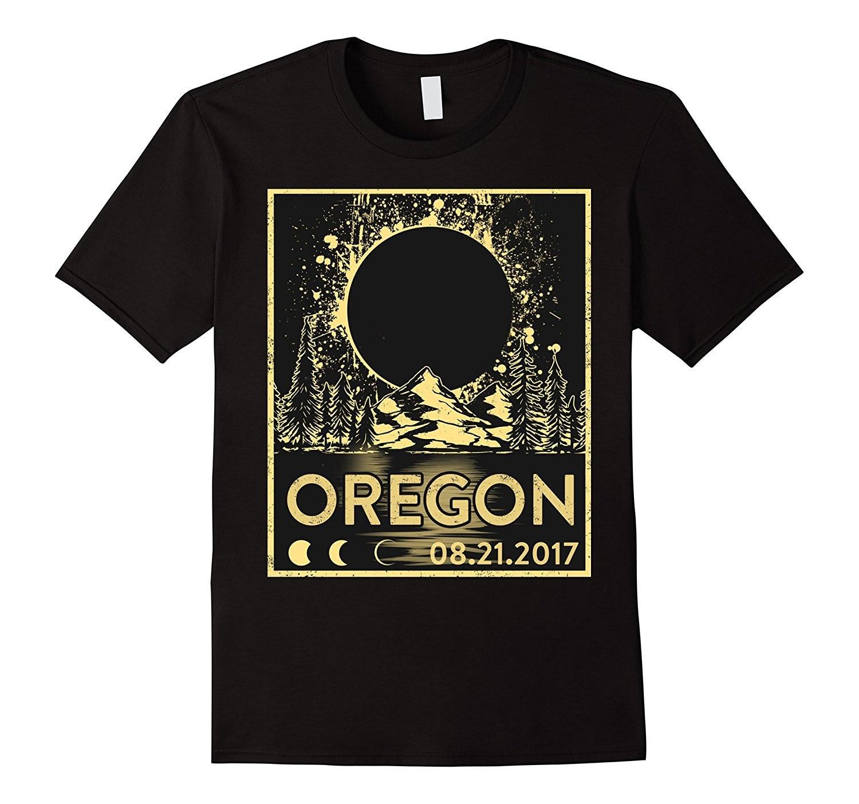 Vintage Oregon Solar Eclipse August 21 2017 Shirt 2017 New Fashion T Shirt Men Cotton Man Fashion Round Collar T-Shirt Top Tee