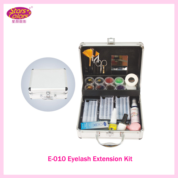 2017 False Double-Layer Grafting Eyelash Extension Kit Full Set with Case For Make-up Beauty Graft Eyelashes kit with teach CD