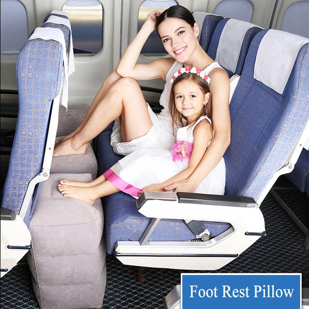 Aufblasbar Fußstütze Flugzeug Reisekissen Beinkissen Fußhocker Kinder