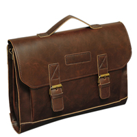 Brand New Men'S Briefcases Classic Style With PU Leather Single Shoulder Bag Business Portfolio Messenger Bag For Men Male Hot