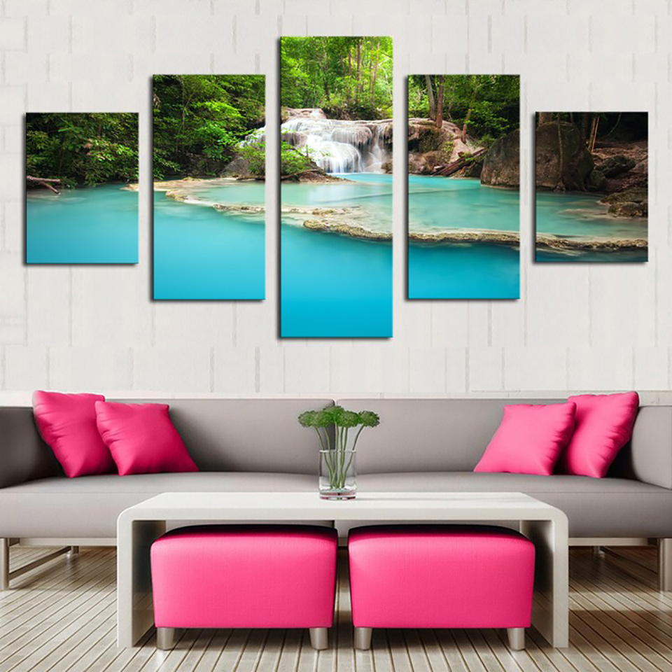 Art Painting Hd Printed Canvas Poster Home Decor 5 Panel
