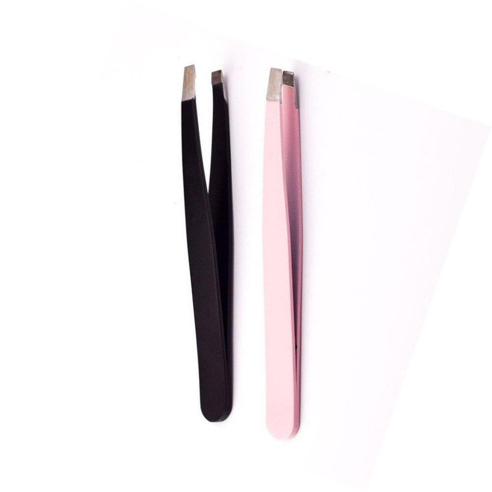 Steel Bevel Eyebrow Folder Tweezers Eyelash Curler Clip Plucking Beauty Tools X90125Down