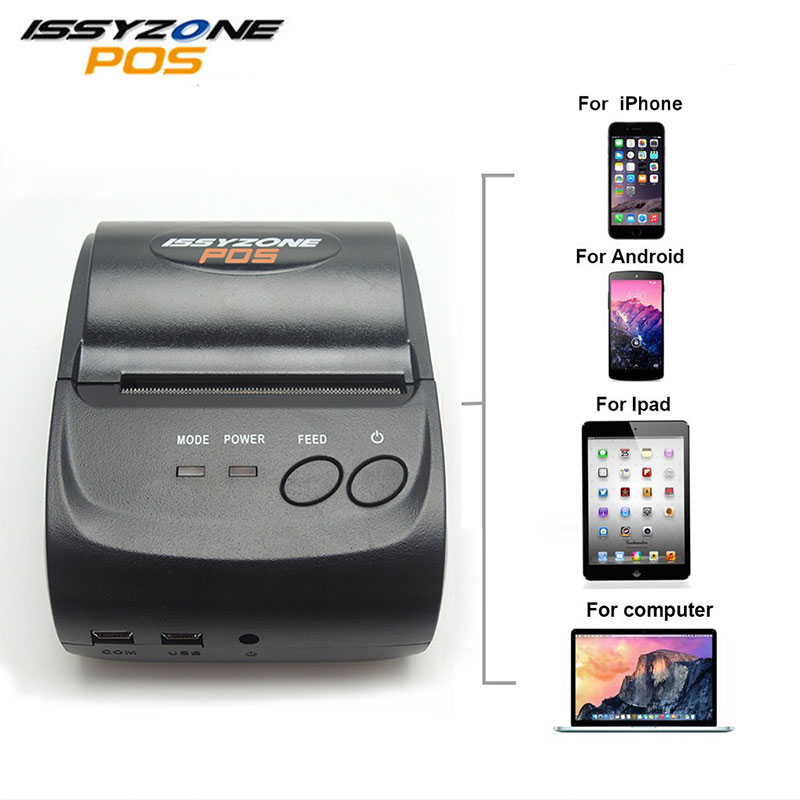 ISSYZONEPOS 58mm Bluetooth Thermal Receipt Printer Portable Android IOS Mini Printer Android Mobile POS Printer freeshipping mini bluetooth thermal printer 80mm receipt ticket printer pos printer machine for thermal printer android ios