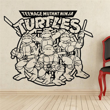 Comics Art cartoon characters Teenage Mutant Ninja Turtles Wall Decal Sticker home decoration Waterproof wall stickers цена