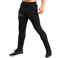 2018 Newest Men Casual Solid Color Trouser Legs Zipper Long Pants A B Two Styles