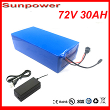 Free customs taxes and shipping 72V 30AH Lithium Ion Electric bike Battery with Charger and 72V 3000W Electric Bicycle battery