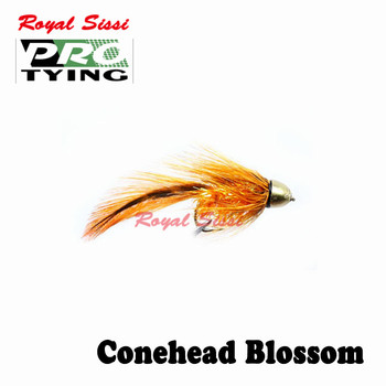 Royal Sissi PRO TYING 4pcs/box hot 8# conehead Damsel sparkle streamer flies with hackle throax Bass Pike fly fishing lure flies image
