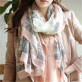 Elegant Gradient Tower Print Women Scarf Rectangle Long Large Soft Voile Shawl Foulard Cheap-Clothes-China Bandana Wraps