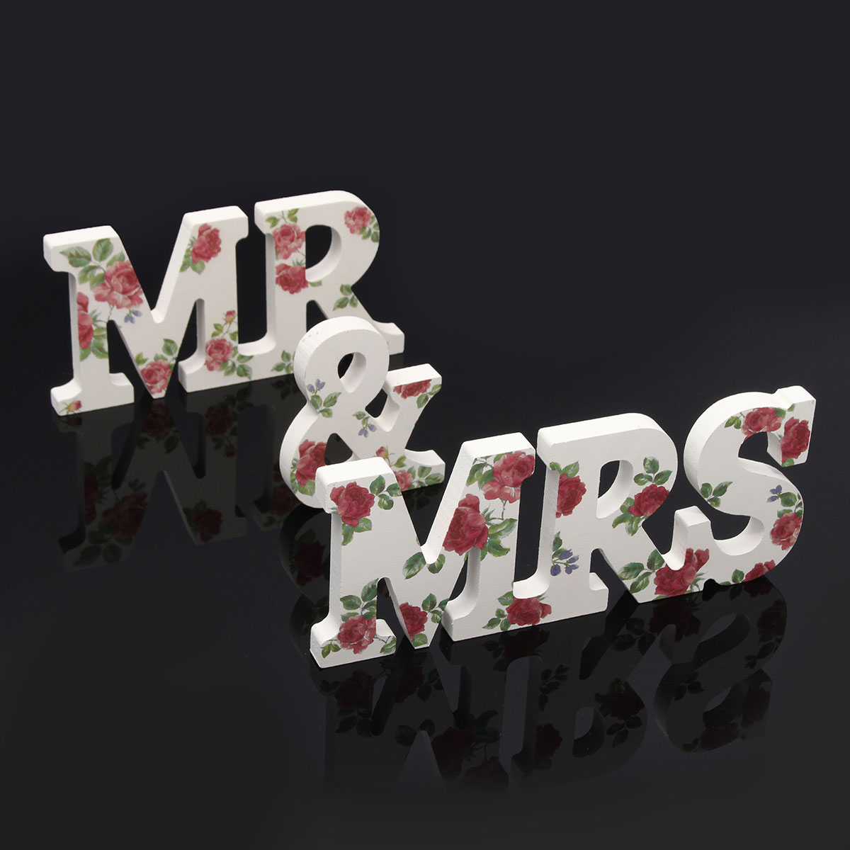 Flower Mr Mrs Letters Wedding Decoration Imitation Wooden Letters Wedding <font><b>Party</b></font> <font><b>Top</b></font> Table Sign Home <font><b>Garden</b></font> Events Supplies