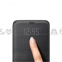 Кожаный чехол-книжка для samsung S9 S9+ светодиодный защитный чехол для мобильного телефона