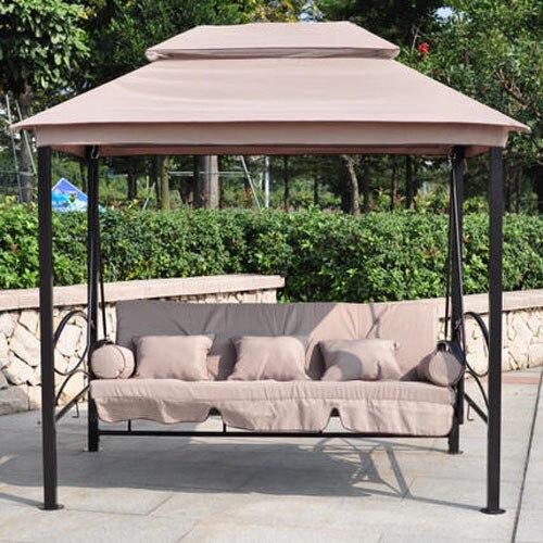 Neue Doppel Gartenanlage Swing Zelt Schaukel Bett Balkonmobel Luxus
