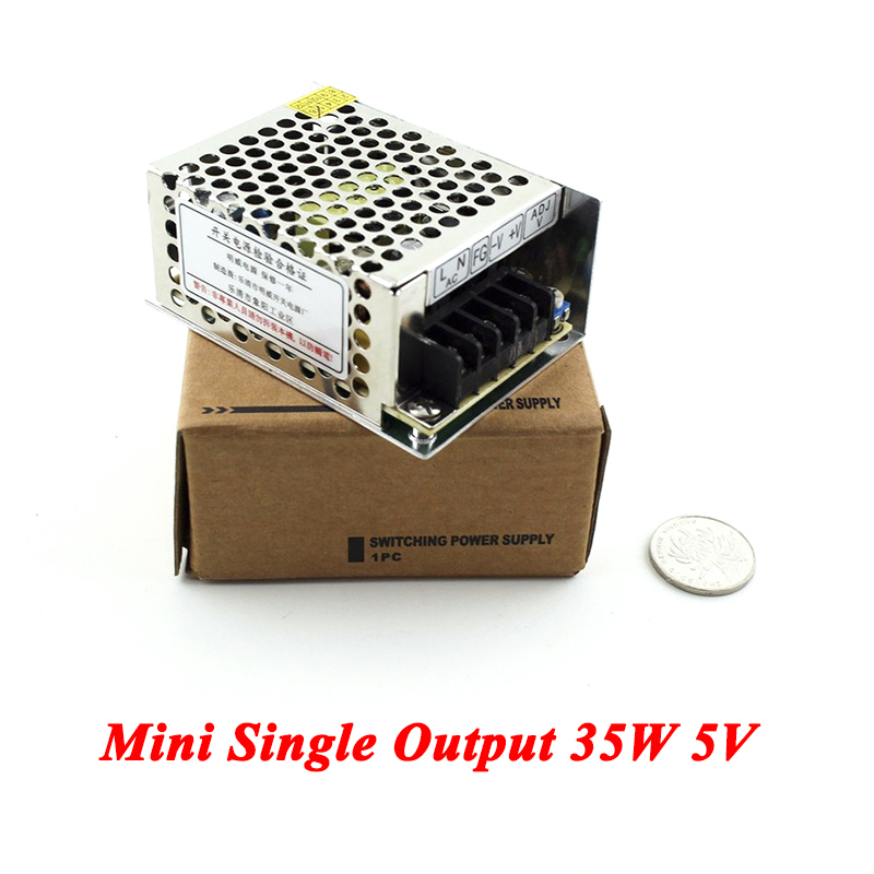 Mini Switching Power Supply 35W 5V 7A Single Output Ac Dc Converter For Led Strip,AC110V/220V Transformer To DC 5V,led Driver free shipping 35w 24v 1 5a single output mini size switching power supply for led strip light ms 35 24