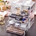 WAHL SPAß Beste Verkauf Große Desktop Klar Acryl Schubladen Sarg Große Kunststoff Lagerung Make-Up Kosmetische Veranstalter Für Dekorationen