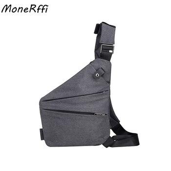 MoneRffi Male Chest Bags -Theft Bag Men Shoulder Bags Men Hidden Chest Men Retro Crossbody Bag