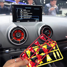 4pcs Interior Front Dashboard Red Air Condition Cover For Audi A3 S3