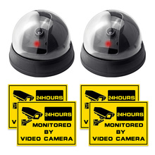 Wireless Fake Camera Secure Dummy LED Surveillance Security Camera For  intercom House Protection warnning sticker