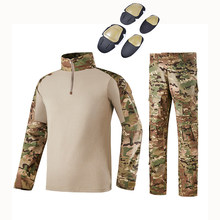 Tactical Camouflage Military Uniform Clothes Suit Men US Army Clothes Military Combat Shirt + Cargo Pants Knee Pads(China)