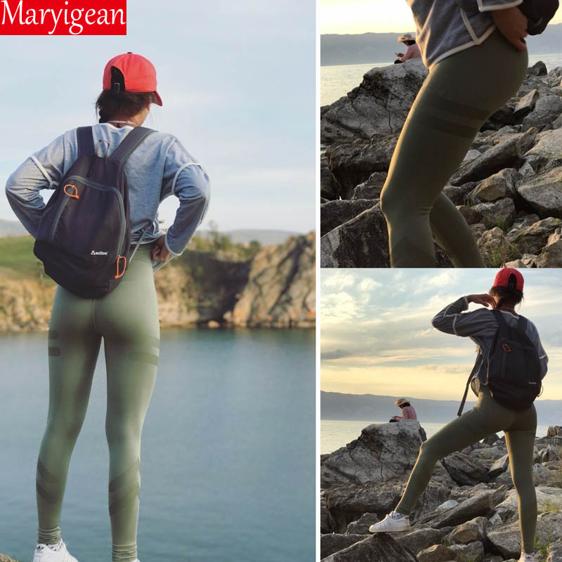 Maryigean 5 Colors Army Green Sporting Leggings Clothing For Women