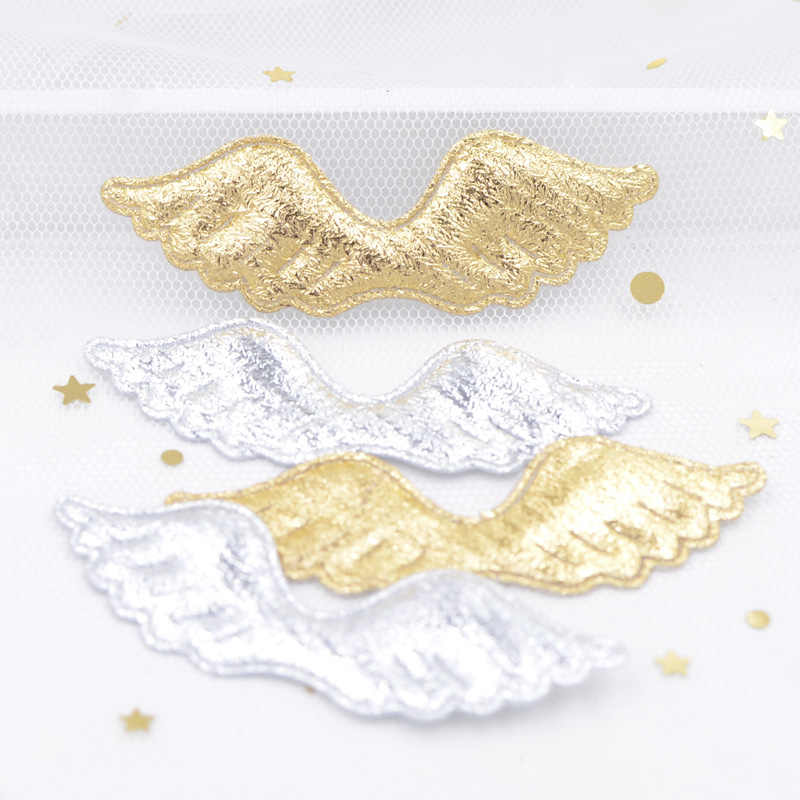 40Pcs Angel Wing Appliques Padded Patches for DIY Cartoon Character Animals Toy Headwear Bowknot Hairpin Decor Accessories G06