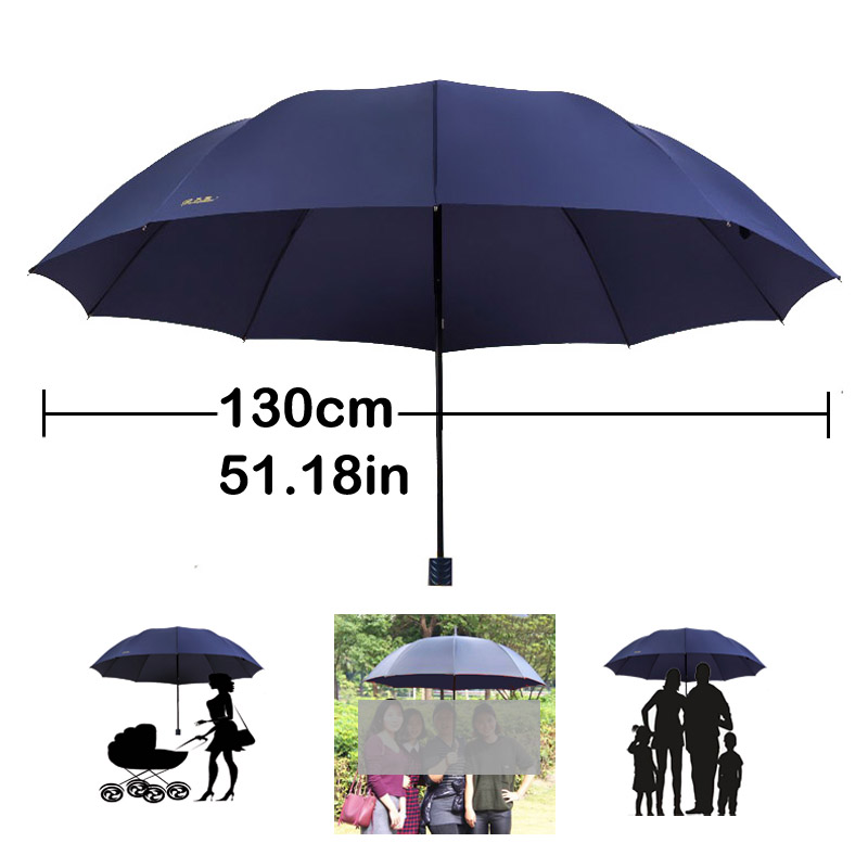 Brand Anti uv Big Umbrella Rain Women Folding Windproof Sun Large Men Hi-Q Corporation Umbrellas Female Parasol Paraguas Chinese