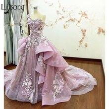 Платье для выпускного бала abendkleider розовое 3d цветочное