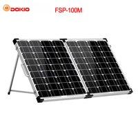 Dokio 100 W (2 ชิ้น x 50 W) พลังงานแสงอาทิตย์แผงจีนโมโน pannello solare คอนโทรลเลอร์ usb พลังงานแสงอาทิตย์แบต