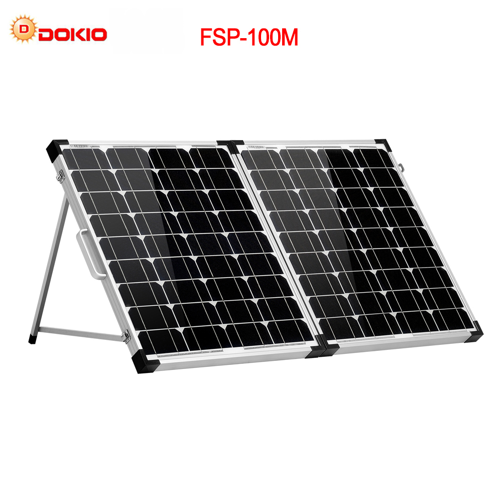 Dokio 100W 2Pcs x 50W Foldable Solar Panel China Mono pannello solare usb Controller Solar Battery