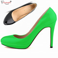 Plus Size Special Offer Red Sole Pumps Tacones Mujer 2015 Mature High Heel Party Prom Green Sexy Shoes For Woman Smynlk-10004d