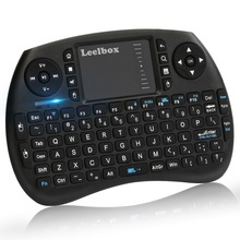 цена Leelbox 2.4Ghz mini keyboard English Air Mouse MultiMedia Remote Control Touchpad Rechargeable Handheld for Android TV BOX 8.1T9