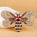 Big Size Insect Brooches Kawaii Cute Bee Brooch Pin For Women Party Anniversary Collres Rhinestone Hijab Pins And Broaches Women