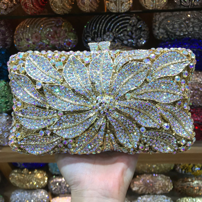 XIYUAN BRAND purple evening bag Luxury crystal Clutch bag gold rhinestone bag party purse Female pochette women wedding wallet цена 2017