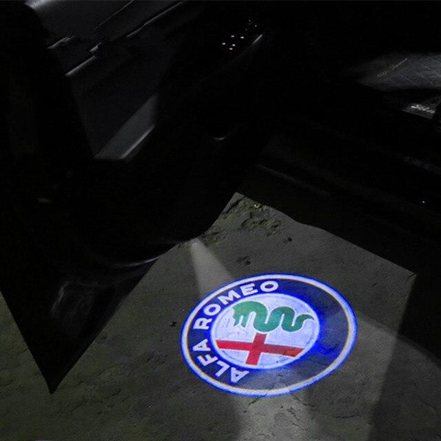 2x Courtesy Lamp For Alfa Romeo LED Car Door Welcome Light Car Door Logo Projector Ghost Laser Shadow Lamp For Alfa Romeo 159