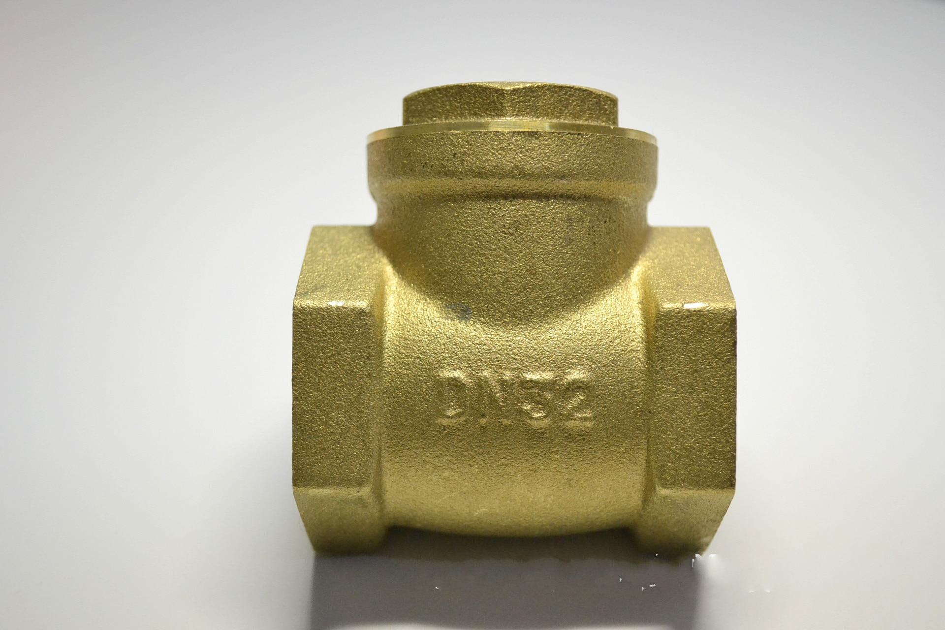 DN32  BSPP Swing Check Valve Prevent Water Backflow Golden dn25 golden 1 inch female bspp thread swing check valve high pressure 32mm thread