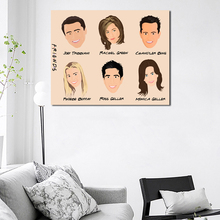 Friends TV Show Characters Cartoon Canvas Posters Prints Wall Art Painting Decorative Picture Modern Home Decoration Accessories