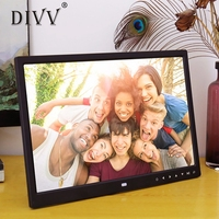 DIVV 15 Inch Photo Frame with Multimedia Playback Contemporary Design With Touch Button 1Pc