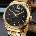 Chenxi 2017 minimalismo dos homens vestido de relógios de ouro de luxo do homem de aço inoxidável quartzo analógico relógio de pulso de ouro para o sexo masculino antigo relógio