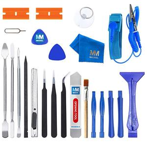 MMOBIEL 23 в 1 профессиональный набор инструментов для ремонта премиум класса, набор Inkl. Антистатический ремешок на запястье для смартфонов, ком...