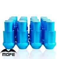 Mofe 20 cái/bộ 50 mét Rays Wheel Lug Nuts Universal Bánh Xe Hợp Kim Nhôm Racing Lug Nuts M12 * 1.5 (P: 1.5 L: 50 MÉT) Màu Xanh